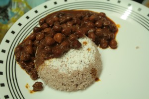 Kadala Curry served with Puttu!
